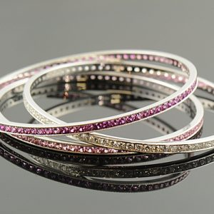 Diamond and Sapphire Bangles-0