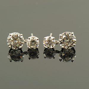 Double Diamond Earrings-0