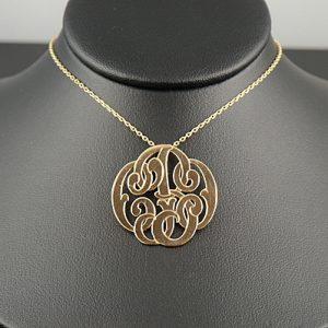 Cut Out Monogram Necklace-0