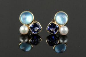 Color Stone Earrings