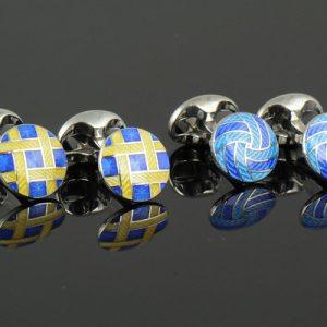 Enamel cufflinks-0