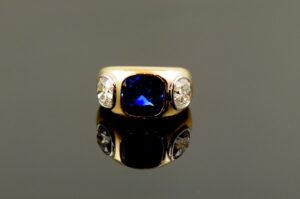 Sapphire & Diamond Ring-0