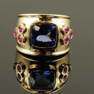 Tanzanite Ruby Ring-0