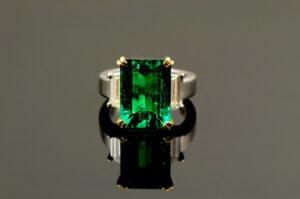Emerald & Diamond Ring-0