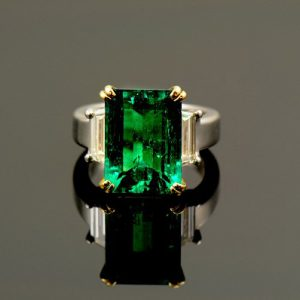 Emerald & Diamond Ring-0