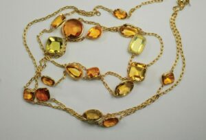 yellow stone gold necklace